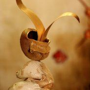 Titolo: N° 241016 scultura in materiale composito e bronzo dorato in oro 18kt altezza cm. 43